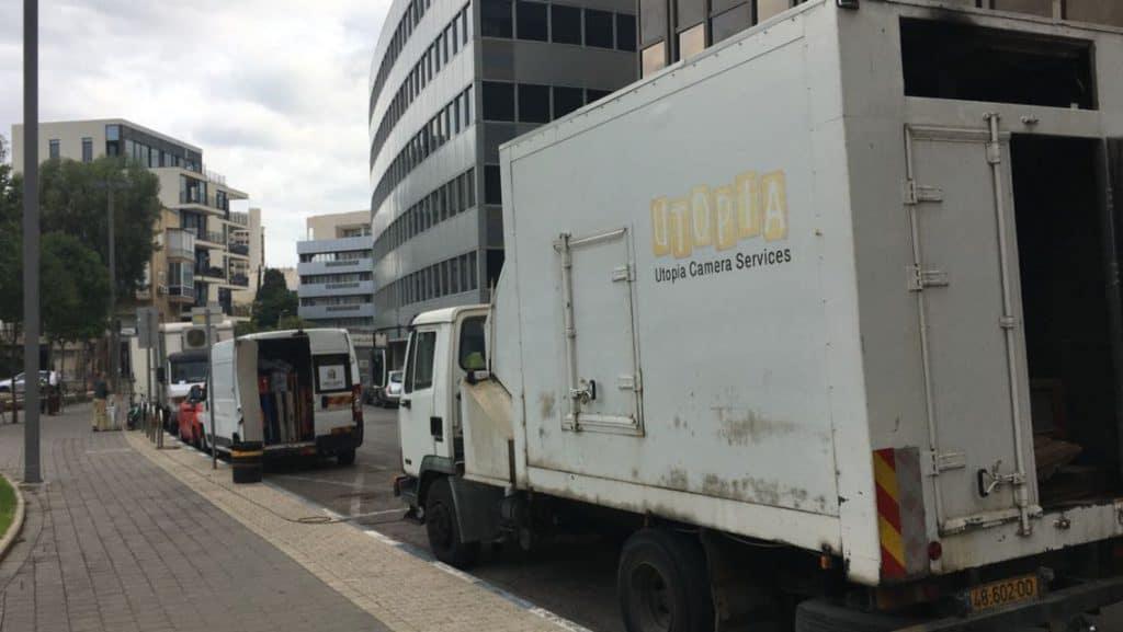 משאית ציוד להפקת סרט